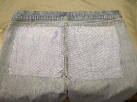 Patched from inside using similar colour denim will give the jeans so much more life